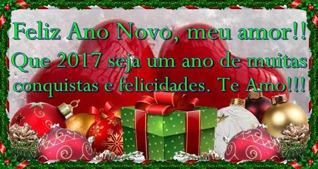 Cartões postais de Feliz Ano Novo, meu amor