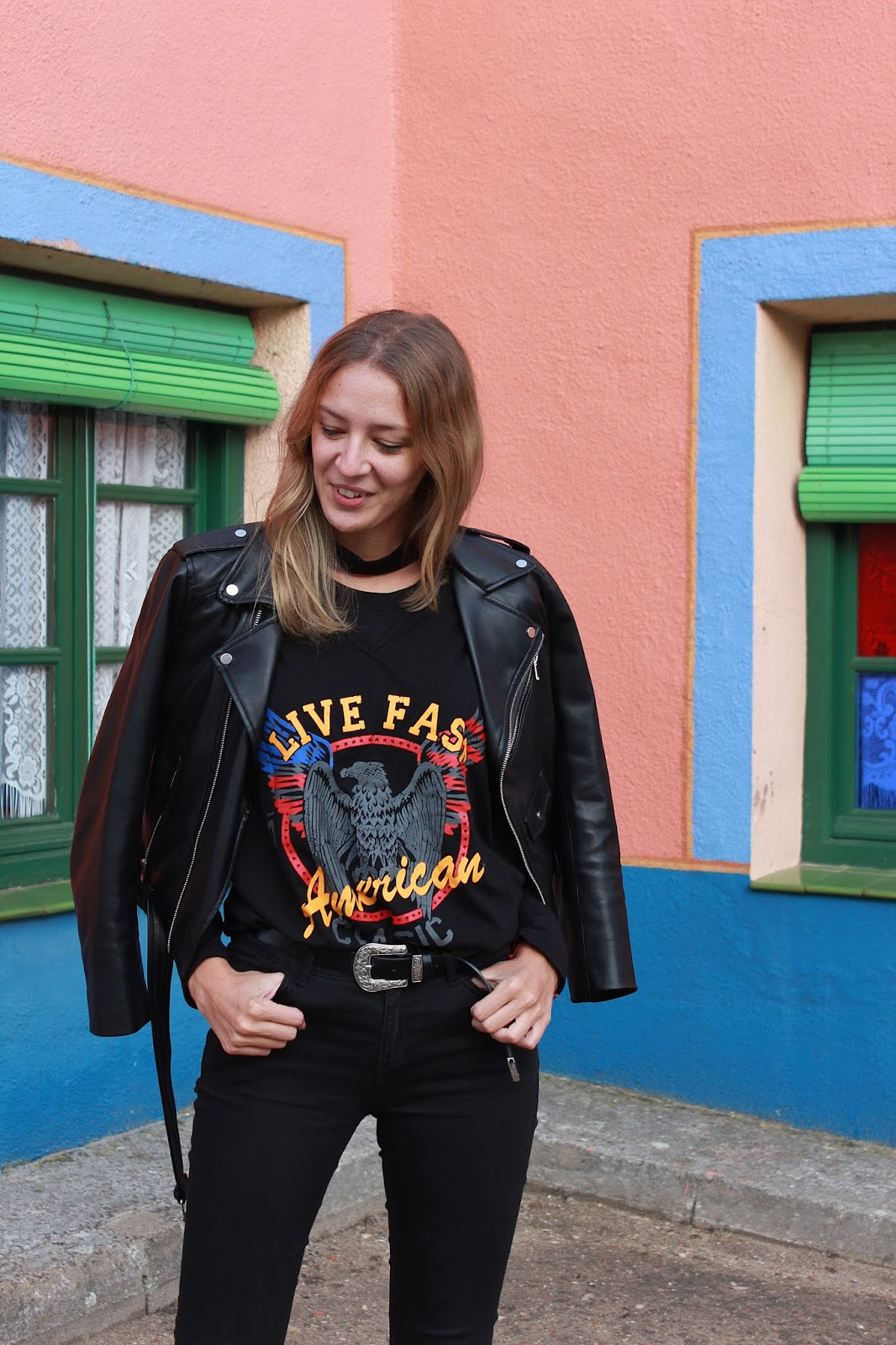 rock-street-style-choker-t-shirt-eagle-print