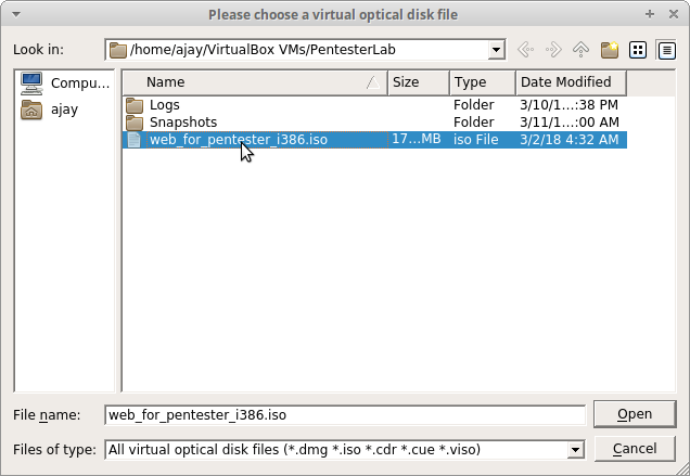 Sec-Art: How to install Web for Pentester VM in Oracle