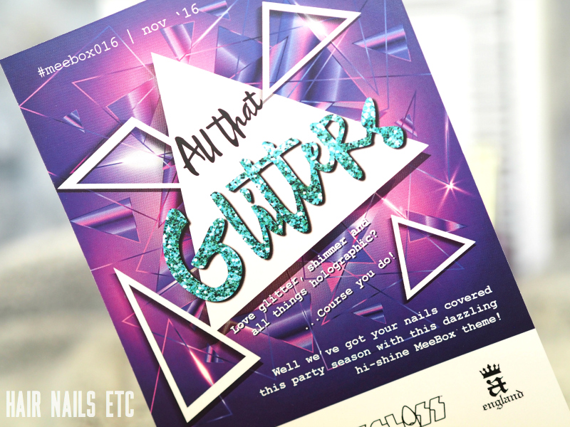 Meebox December 2016 All That Glitters Review