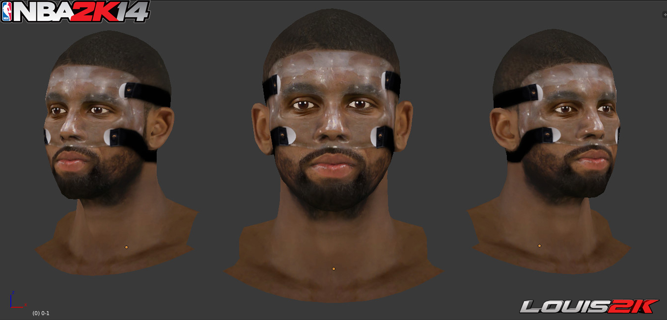 how to draw kyrie irving face