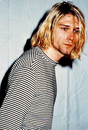 Foto de Kurt Cobain flaco y aflijido
