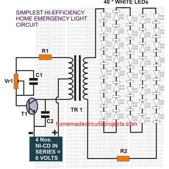 60 LED Emergency Light Circuit
