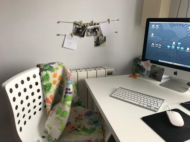 Organizar fotos y notas en el despacho