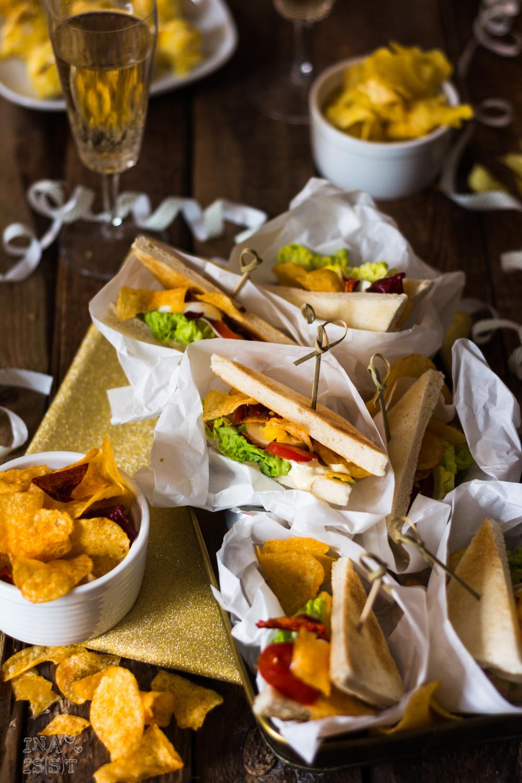MyChipsBox, Rezept, Mini Clubsandwiches und krosse Frischkäsebällchen, Silveressen, Silvesterbuffet, Bio Chips, Gemüsechips