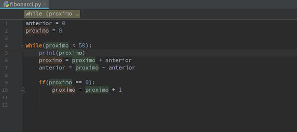 Script Fibonacci em Python