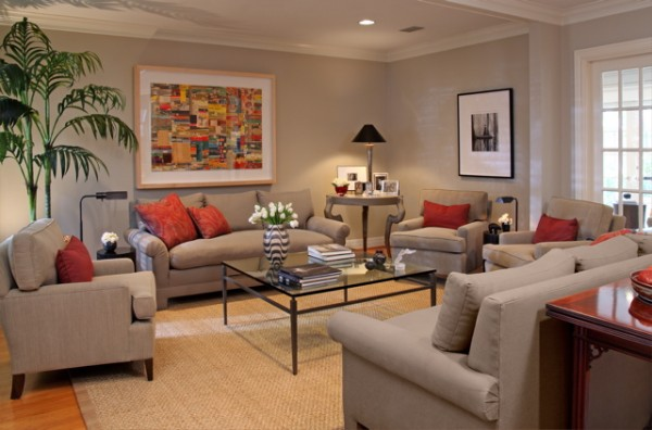 How Does Sandy Color Paint Look Like In Living Room