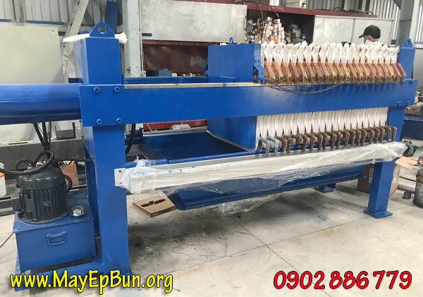Sửa chữa máy ép bùn khung bản size 630, 20 khung cho Công ty Formosa