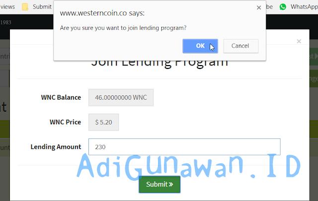 Program Lending WesternCoin