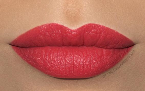 Clarins Joli Rouge Velvet Lipstick Swatch 756v guava