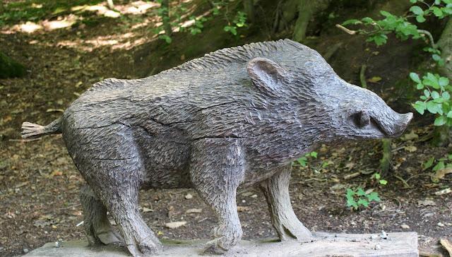 Tierpark Gera Wildschweinskulptur