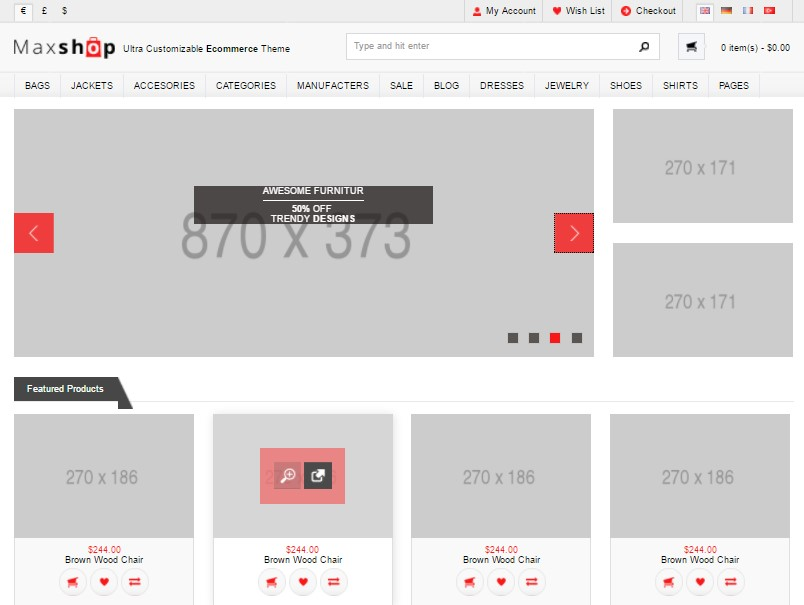 Download 20 Free responsive dynamic E-Commerce Website Template
