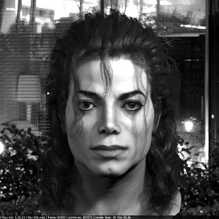 3d model Michael Jackson head