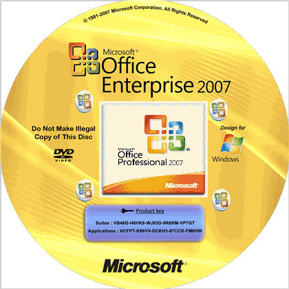 MS Office Enterprise 2007 Working Serial & Product Key