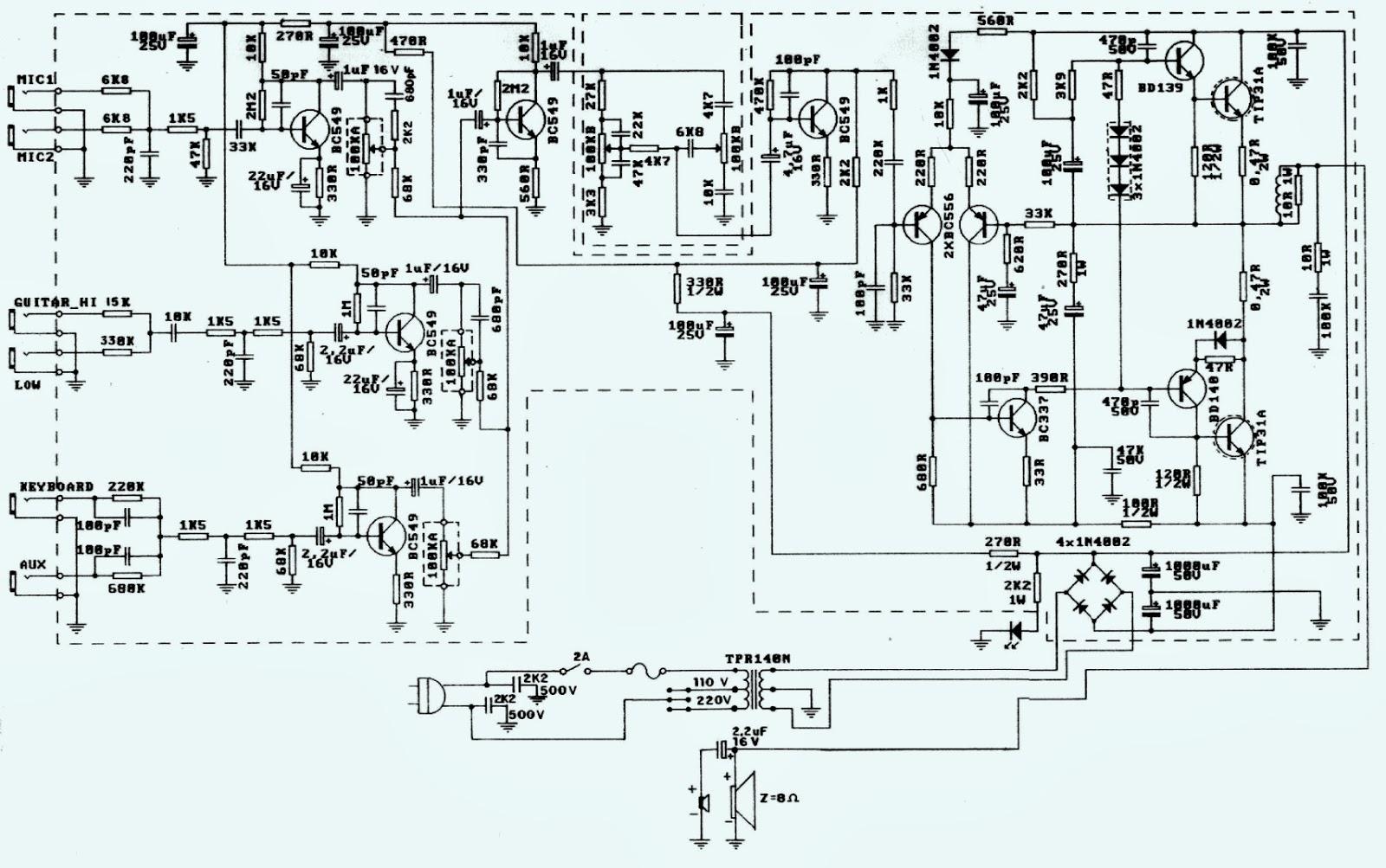Keyboard Amp Schematics