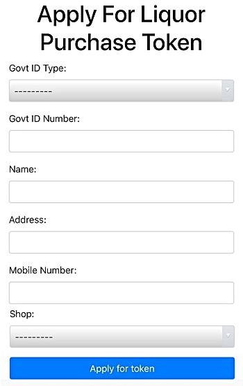 Apply For Liquor Purchase q-Token in Delhi