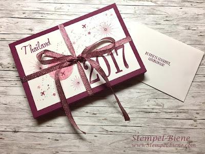 Geschenk Prämienreise stampinup; Geschenk zur erreichten Prämienreise; Geschenk Reise Thailand; Stampinup blog; stempel-biene