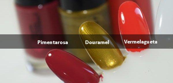 Esmalte Gabriela Douramel , Vermalagueta e Pimentarosa