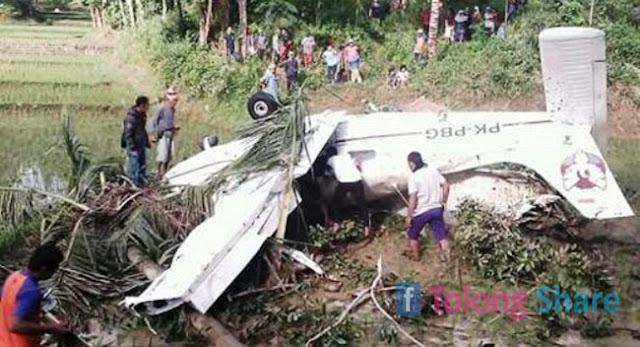Pesawat Jatuh di Tasikmalaya