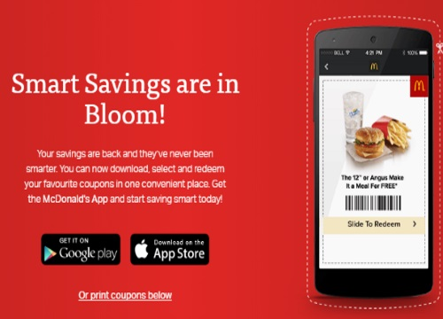 McDonalds Smart Savings Coupons