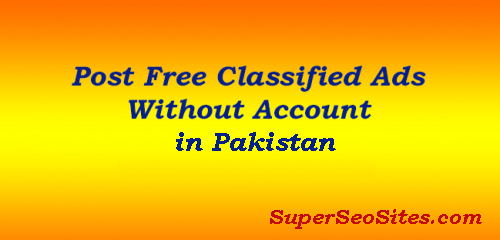 Free Ad Posting Sites in Pakistan Without Registration