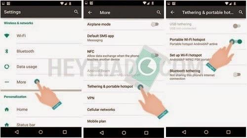 Langkah Mengaktifkan Hotspot di Android