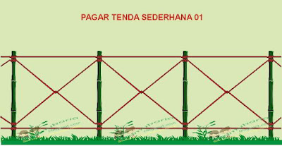 model pagar tenda perkemahan