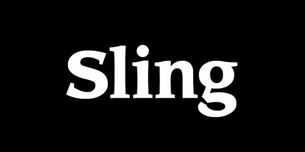 Free Bold Serif Font - Sling Bold