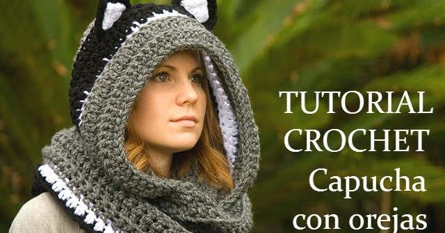Cómo tejer una capucha crochet con orejas de gato / Tutoriales en ...