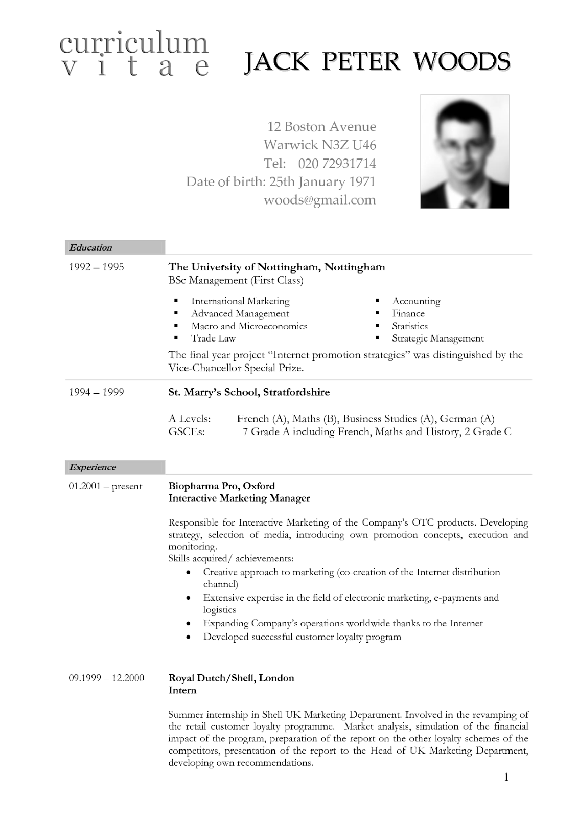 Resume Example Of Resume In English Pdf resume sample english template american format cv cover