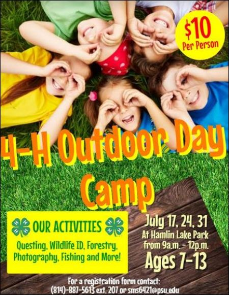 7-17-24-31 4-H Outdoor Day Camp