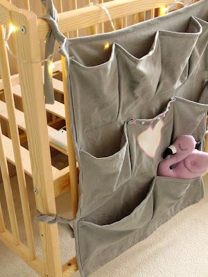 baby cot organizer DIY