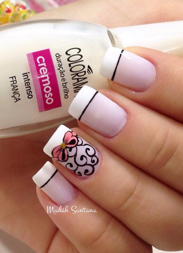 ... that you can look up to find the best French tip nail art design you  want to recreate. Get references and motivation from a wide array of  choices below. - French Nail Art Designs 2016 Fashion Newby's