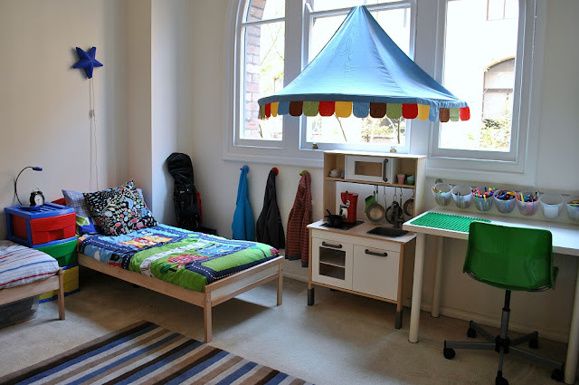 Shared Boys Geometrical Bedroom: The Boo And The Boy: Shared Boys' Bedroom