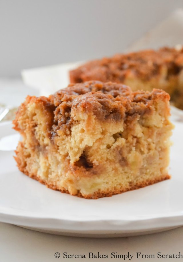 Apple Coffee Cake with Cinnamon Brown Sugar Crumb is a fall breakfast recipe favorite from Serena Bakes Simply From Scratch.
