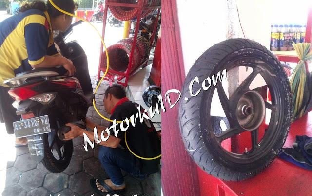 Wow Pakai Ban Tubeless Motor Jadi Geset di Jalanan