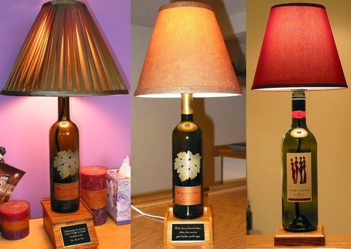 Memanfaatkan Botol Bekas Wine untuk Lampu Tidur ~ Inspirasi 26038588cf