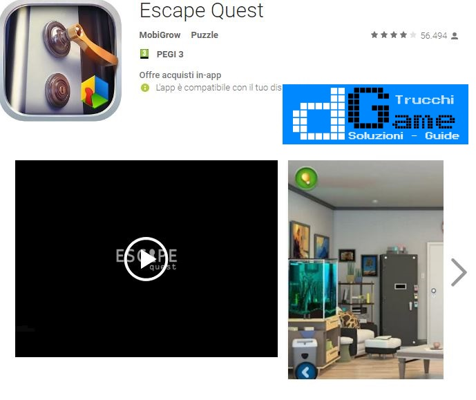 Soluzioni Escape Quest  livello  1  2  3  4  5  6  7  8  9 10 | Trucchi e  Walkthrough level