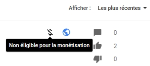 monétisation Youtube