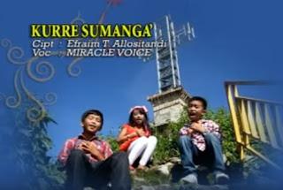 Download Lagu Anak Toraja Kurre Sumanga' (Miracle Voice)