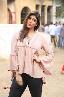 Telugu Actress Aditi Singh Stills in Leather Pants at Nenu Kidnap Iyanu Movie Press Meet  0046.JPG