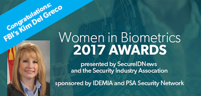 Kim Del Greco, 2017 Woman in Biometrics Award Winner