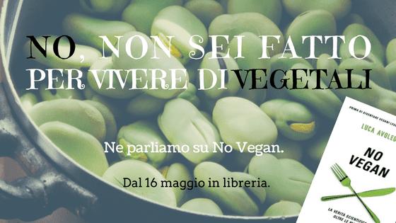 L'uomo non è vegano