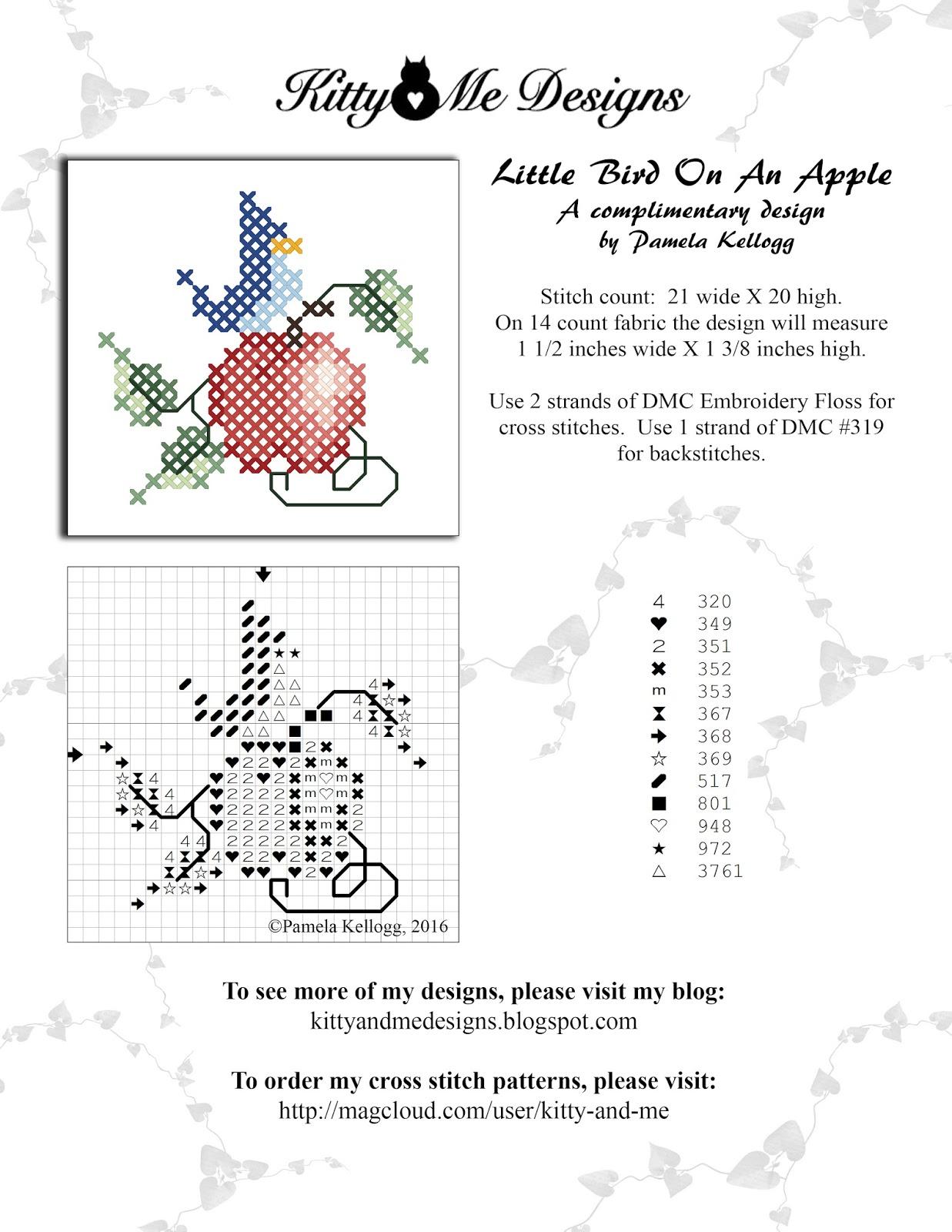 Kitty And Me Designs New Free Cross Stitch Pattern