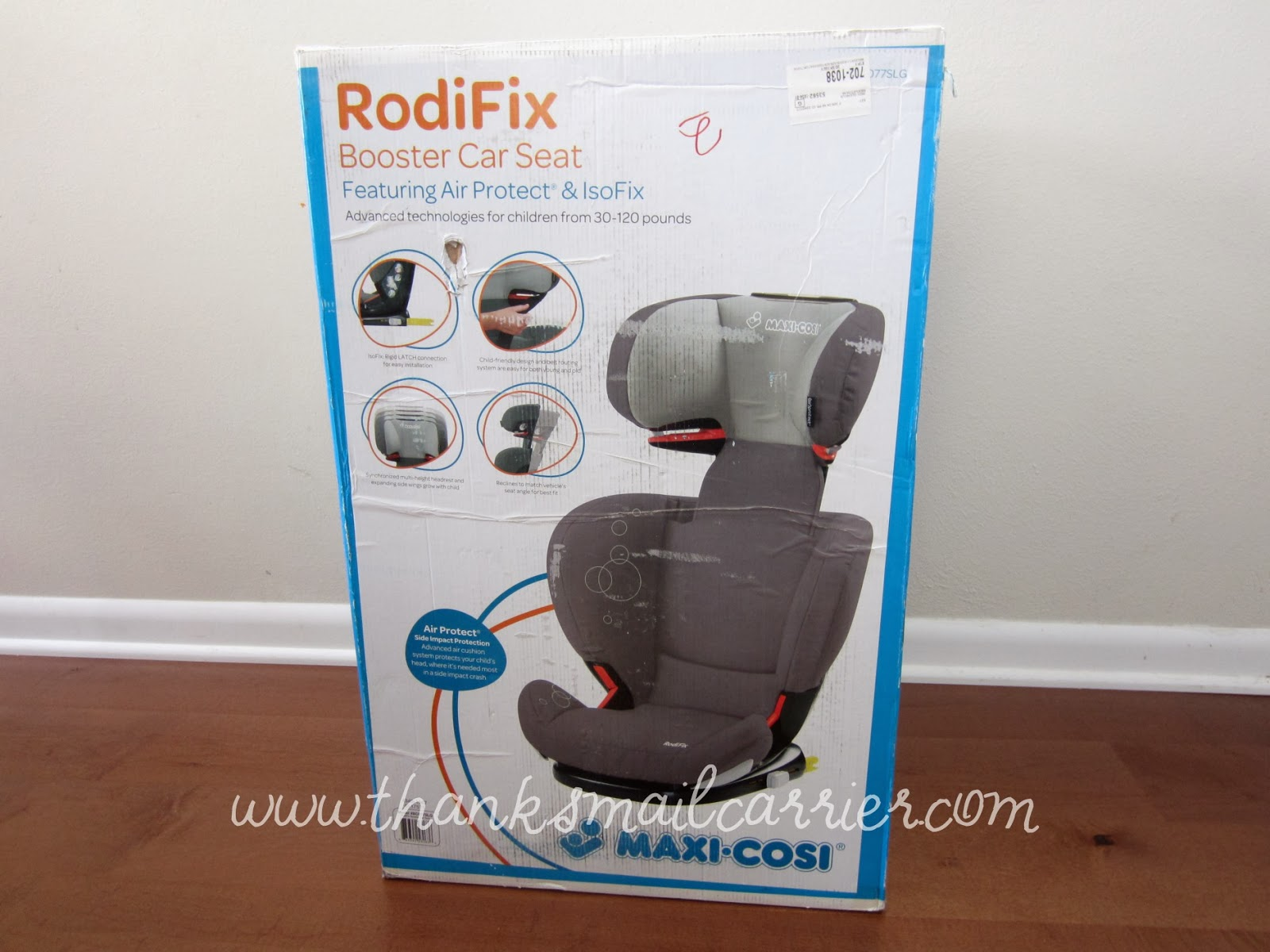 thanks mail carrier maxi cosi rodifix booster seat review. Black Bedroom Furniture Sets. Home Design Ideas