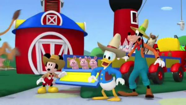 DONALD DUCK: And an oink-oink there