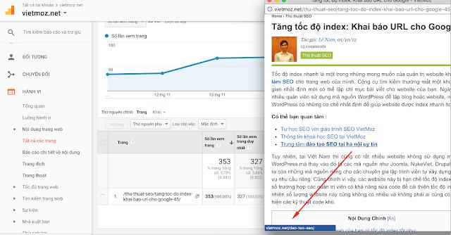 Chèn link nội bộ dạng tiêu đề với page tỉ lệ thoát trang cao