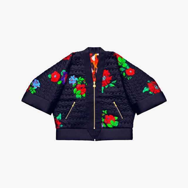 Kenzo x H&M Reversible silk kimono