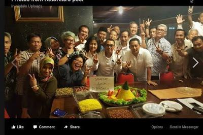 """Perayaan """"Selamat Ahok Dipenjara"""", Prabowo sebut : itu pihak pihak yang dirugikan Ahok selama menjabat."""
