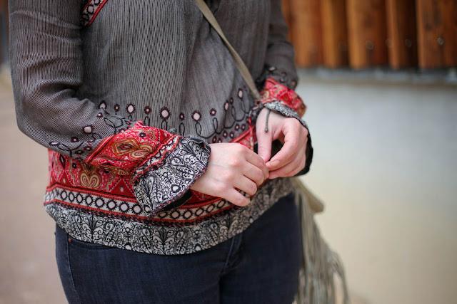 photo details manche blouse bohème